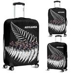 New Zealand Haka Rugby Luggage Covers - Best Silver Fern Black K4