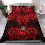 Aotearoa Bedding Set Maori Tiki Paua Shell Duvet Cover and Pillow Cases TH5