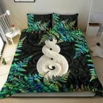 New Zealand Bedding Set Pikorua Double Twist - Silver Fern Paua shell TH45