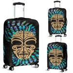 Silver Fern Luggage Covers Moko Maori Paua Shell - Gold