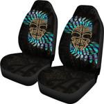 Silver Fern Car Seat Covers Moko Maori Paua Shell - Gold