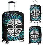 Silver Fern Luggage Covers Moko Maori Paua Shell - White