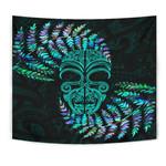 Silver Fern Tapestry Moko Maori Paua Shell - Turquoise