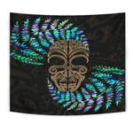 Silver Fern Tapestry Moko Maori Paua Shell - Gold