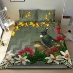Tui Bird Maori Poutama Bedding Set K5