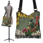 Tui Bird Maori Poutama Crossbody Boho Handbag K5