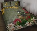 Tui Bird Maori Poutama Quilt Bed Set K5