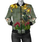 Tui Bird Maori Poutama Women Bomber Jacket K5