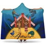Maori My Homeland Hooded Blanket New Zealand K4
