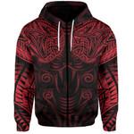 New Zealand Zip-Hoodie Maori Snake Tattoo Red