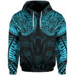 New Zealand Hoodie Maori Snake Tattoo Blue