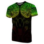 New Zealand T-Shirt Maori Snake Tattoo Rasta