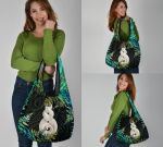 New Zealand Grocery Bag 3-Pack Pikorua Double Twist - Silver Fern Paua Shell TH45