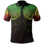 New Zealand Polo Shirt Maori Snake Tattoo Rasta