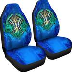 Polynesian Turtle Car Seat Covers Swirls Blue K4