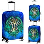 Polynesian Turtle Luggage Covers Swirls Blue K4