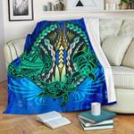 Polynesian Turtle Premium Blanket Swirls Blue K4