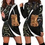 Paua Shell Maori Whakairo Hoodie Dress Circle Style J95