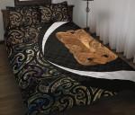 Paua Shell Maori Whakairo Quilt Bed Set Circle Style J95