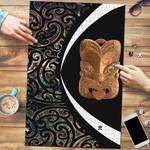 Paua Shell Maori Whakairo Jigsaw Puzzle Circle Style J95