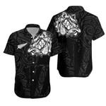 New Zealand Maori Shirt, Maori Bulldog Hawaiian Shirt - Black K5