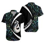 Maori Manaia Paua Shell Hawaiian Shirt, Circle Style J95