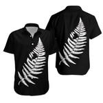 Silver Fern With Heart New Zealand Hawaiian Shirt K5