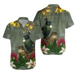 Tui Bird Maori Poutama Hawaiian Shirt K5