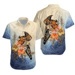 Polynesian Turtle Hibiscus Sea Shell Hawaiian Shirt K5