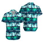 Tropical Frangipani With Palms Hawaiian Shirt K5