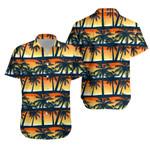 Tropical Palms Trees At Sunset Hawaiian Shirt K5