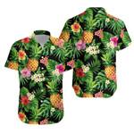 Tropical Pineapples, Palm Leaves And Flowers Hawaiian Shirt K5