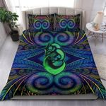 Manaia Bedding Set Koru Painting Duvet Cover and Pillow Cases TH5