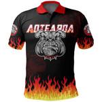 Bulldog Fire Polo Shirt, Maori Biker Golf Shirts K5