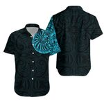 Maori Warrior Tattoo Hawaiian Shirt - Light Blue K5