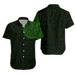 Maori Warrior Tattoo Hawaiian Shirt - Green K5