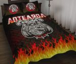 Bulldog Fire, Maori Biker Quilt Bed Set K5