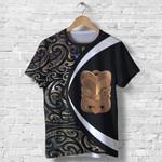 Paua Shell Maori Whakairo T Shirt Circle Style J95