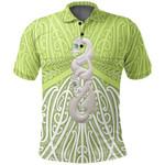 Maori Moko Tattoo, Manaia Pounamu Polo Shirt Lime K5