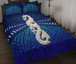 Maori Moko Tattoo, Manaia Pounamu Quilt Bed Set Cobalt K5