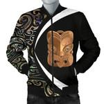 Paua Shell Maori Whakairo Men's Bomber Jacket Circle Style J95