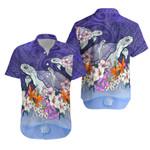 Sea Turtle Polynesian Hawaiian Shirt Tropical Floral K4