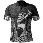 New Zealand Polo Shirt Maori Surf - Black