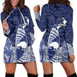New Zealand Women's Hoodie Dress Maori Surf