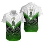 Maori Manaia New Zealand Hawaiian Shirt Green K4