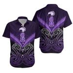 Maori Manaia New Zealand Hawaiian Shirt Purple K4