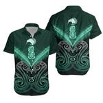 Maori Manaia New Zealand Hawaiian Shirt Turquoise K4