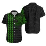 Polynesian Warrior Tattoo Lauhala Hawaiian Shirt - Green A75