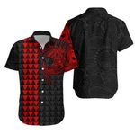 Polynesian Warrior Tattoo Lauhala Hawaiian Shirt - Red A75