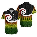 New Zealand Hawaiian Shirt Koru Rastafari K4